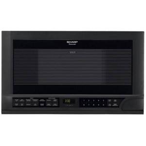 """Sharp R1210T Microwave Oven - Single - 11.22 gal Capacity - Microwave - 11 Power Levels - 1100 W Microwave Power - 14.13"""" Turntable - Over The Range -"""
