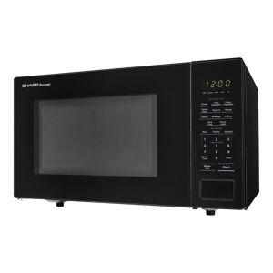 Sharp Carousel 1.1 Cu Ft Microwave Oven, Black