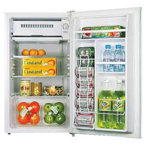 Lorell 3.3 Cu Ft Compact Refrigerator, Light Blue/White