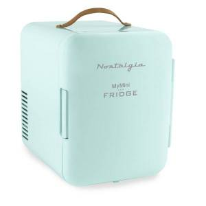 Nostalgia Electrics 0.14 Cu Ft MyMini Retro Personal Refrigerator, Aqua