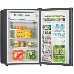 Lorell 3.3 cu.ft. Compact Refrigerator - 3.30 ft - Manual Defrost - Reversible - 3.30 ft Net Refrigerator Capacity - Black - Steel, Fiberglass, Plas