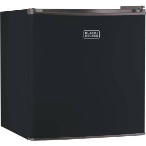 Black & Decker BCRK17B 1.7 Cubic-ft Refrigerator/Freezer (Black) - 1.70 ft - Reversible - Black - Glass Shelf