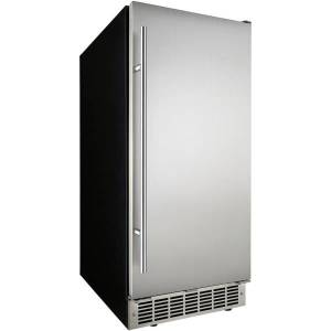 """Silhouette Mosel 15"""" Undercounter Ice Maker - 32 lb Per Day - 25 lb - Stainless Steel"""