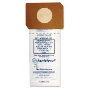 PACKAGING DYNAMICS Janitized Vacuum Filter Bags For Select Machines, White, Pack Of 100 Bags