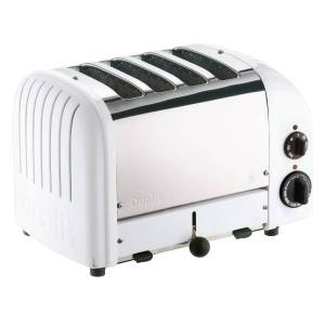 Dualit New Gen 4-Slice Extra-Wide-Slot Toaster, White