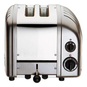 Dualit NewGen Extra-Wide Slot Toaster, 2-Slice, Metallic Charcoal