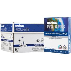 "Boise� POLARIS� Premium Multi-Use Paper, Letter Size (8 1/2"" x 11""), 97 (U.S.) Brightness, 24 Lb, FSC� Certified, Ream Of 500 Sheets, Case Of 10 Reams"