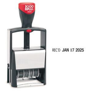 2000Plus 2000 PLUS Date Phrase Dater Heavy Duty Self-Inking 12-in-1 Date Phrase Dater, 12 Phrases,  REC'D, ANS'D, ENT'D, PAID, BAL, CHG'D, SHIP'D, RET'D, C.O.