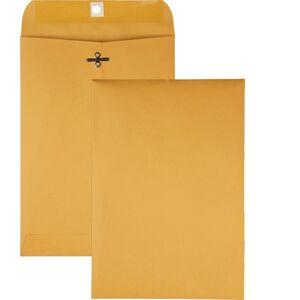"Quality Park Gummed Kraft Clasp Envelopes - Clasp - #68 - 7"" Width x 10"" Length - 28 lb - Gummed - Kraft - 100 / Box - Kraft"