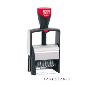 """2000Plus Cosco 2000 Plus Self-Inking Numbering Stamp, 10-Number Bands, 3/16"""" x 1 5/8"""", Black Ink"""