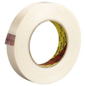"""3M 898 Strapping Tape, 1/2"""" x 60 Yd., Clear, Case Of 72"""