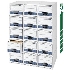 """Bankers Box Stor/Drawer Steel Plus Drawer File, Letter Size, 23 1/4"""" x 12 1/2"""" x 10 3/8"""", 60% Recycled, White/Blue, Pack Of 6"""