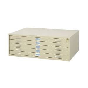 """Safco 5-Drawer Steel Flat File, 46 3/8""""W x 35 3/8""""D, Tropic Sand"""