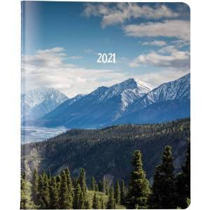Brownline 14-Month Planner - Monthly - 1.2 Year - December 2020 till January 2022 - Twin Wire - Nature's Hues - Ruled Daily Block, Reminder Section, N