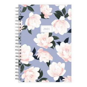 """Blue Sky Weekly/Monthly Planner, 5"""" x 8"""", Hazel, January To December 2021, 122195"""