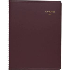 """At-A-Glance Monthly Planner - Monthly - 1 Year - January 2021 till December 2021 - 1 Month Double Page Layout - 6 7/8"""" x 8 3/4"""" Sheet Size - Wire Boun"""