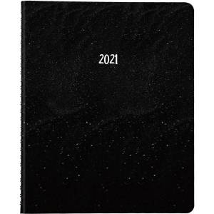 Brownline Brownlin+G32:G53e 14-Month Planner - Monthly - 1.2 Year - December 2020 till January 2022 - Twin Wire - Black - Ruled Daily Block, Reminder