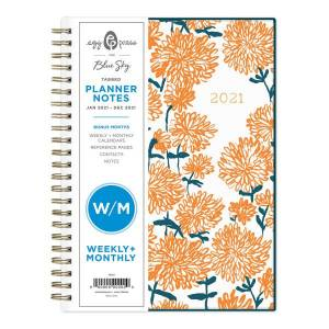 """Blue Sky Egg Press Weekly/Monthly Planner, 5-13/16"""" x 8-5/8"""", Mom Mums, January To December 2021, 121848"""