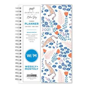 """Blue Sky Dabney Lee Weekly/Monthly Planner, 8"""" x 5"""", Enchanted Forest, January To December 2021, 122350"""