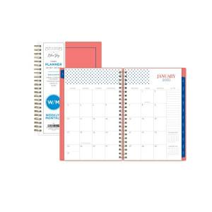 "Blue Sky Snow And Graham Weekly/Monthly Planner, 5"" x 8"", Hannah, January To December 2021, 121774"