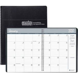 """House of Doolittle Doolittle 24-month Large Planner - Monthly, Daily - 2 Year - January 2020 till December 2021 - 1 Month Double Page Layout - 8 1/2"""""""
