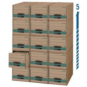 """Bankers Box Stor/Drawer Steel Plus Drawer Files, Legal Size, 23 1/4"""" x 15 1/2"""" x 10 3/8"""", 100% Recycled, Pack Of 6"""