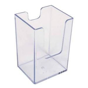 "Azar Displays Deep Vertical Business/Gift Card Holders, 3-1/2""H x 2-15/16""W x 1-15/16""D, Clear, Pack Of 10 Holders"