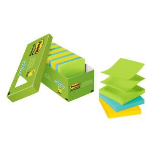 Post-it Pop-up Notes, 3 in x 3 in, Jaipur Collection, 18 Pads/Pack