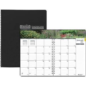 House of Doolittle Earthscapes Gardens Monthly Planner - Julian Dates - Monthly - 1 Year - January 2021 till December 2021 - 1 Month Double Page Layou