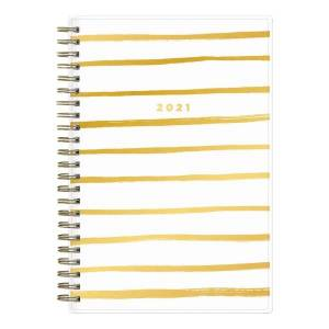 """Blue Sky Ashley G Weekly/Monthly Planner, 5"""" x 8"""", Painterly Stripe, January To December 2021, 122187"""