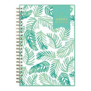 """Blue Sky Day Designer Weekly/Monthly Planner, 5"""" x 8"""", Palms, January To December 2021, 122183"""