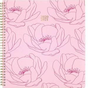 At-A-Glance Quinn Floral Academic Planner - Academic - Weekly, Monthly - 1 Year - July 2020 till June 2021 - 1 Week, 1 Month Double Page Layout - 8 1/