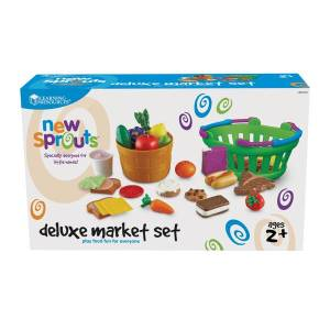 Learning Resources New Sprouts Deluxe Market Set, Grades Pre-K - 3