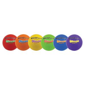 "Champion Sports Rhino Skin Super Squeeze Volleyball Set - 7.50"" - Foam - Red, Orange, Yellow, Green, Royal Blue, Purple - 6 / Set"