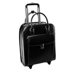 """McKlein Uptown Vertical Wheeled Briefcase with 15"""" Laptop Pocket, Black"""