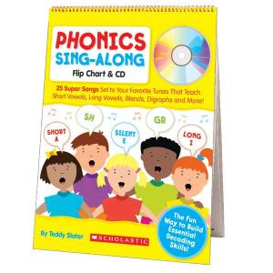 Scholastic Phonics Sing-Along Flip Chart & CD