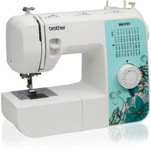 Brother SM3701 Electric Sewing Machine - 37 Built-In Stitches - Automatic Threading - Portable