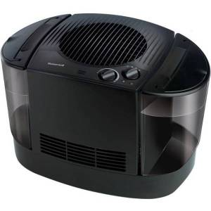 Honeywell Top Fill Cool Moisture Humidifier in Black - Evaporative System - 1.50 gal Tank