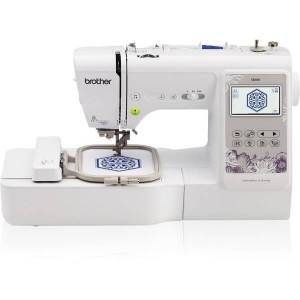 "Brother Computerized Sewing and Embroidery Machine with 4"" x 4"" Embroidery Area - 103 Built-In Stitches - Automatic Threading"