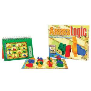 "Fat Brain Toy Company Fat Brain Toy Co. AnimaLogic Puzzle Game, 11 1/2""H x 9 1/2''W x 2''D, Assorted Colors, Grades Pre-K - 4"