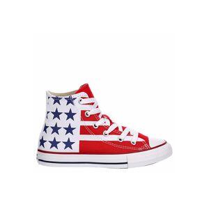Converse Boys Chuck Taylor All Star Hi Top Sneaker -  WHITE(Size: 5.5M)