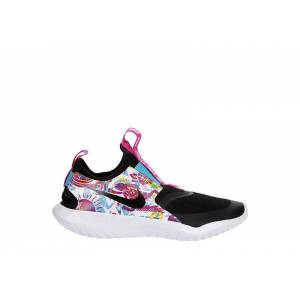 Nike Girls Flex Runner Slip On Sneaker Running Sneakers - BLACK Size 6M -  BLACK(Size: 6M)