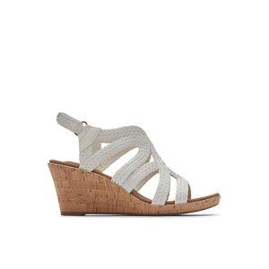 Rockport Womens Briah Braided Wedge Sandal -  WHITE(Size: 6.5W)