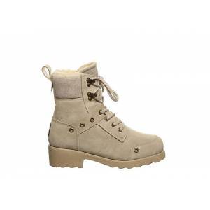 Bearpaw Womens Alicia Combat Boot -  OFF WHITE(Size: 5M)
