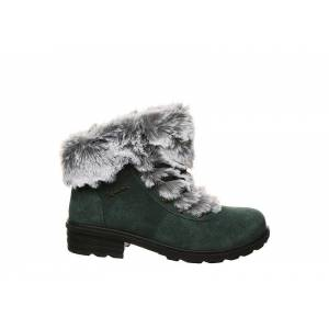 Bearpaw Womens Serenity Lace Up Fur Boot -  DARK GREEN(Size: 10M)