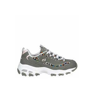 Skechers Womens Dlites Sneaker Trainers Sneakers -  GREY(Size: 9M)