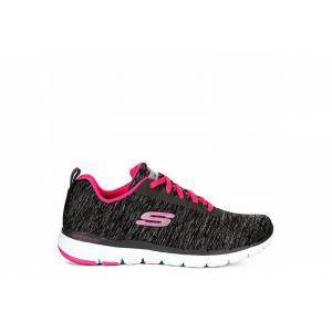 Skechers Womens Flex Appeal 3.0 Insiders Sneaker  Running Sneakers - BLACK Size 7M -  BLACK(Size: 7M)