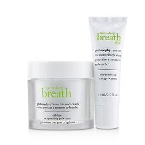PhilosophyTake A Deep Breath Oxygenating Face & Eye Duo: Face Gel Cream 60ml + Eye Gel Cream 15ml 2pcs