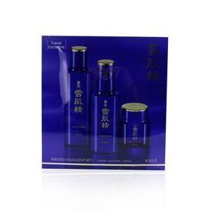 KoseSekkisei Excellent Kit I: Lotion Excellent 200ml + Emulsion Excellent 140ml + Cream Excellent 50g 3pcs