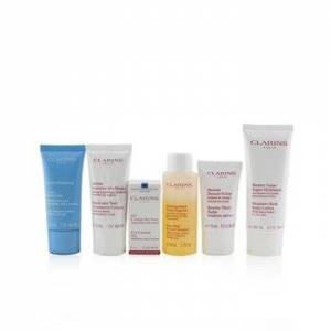 ClarinsHead-to-Toe Moisturizing Essentials Set: Facial Cleanser+Eye Gel+Beauty Flash Balm+Hydra-Essentiel Cream+Body Lotion+Hand 6pcs